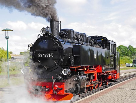 jízda parního vlaku